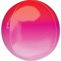 Balon folie Ombre Orbz Red & Pink - 40553