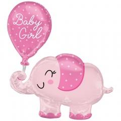 Folie Figurina Elefant Baby Girl- 73 x 78 cm, Radar 4312475